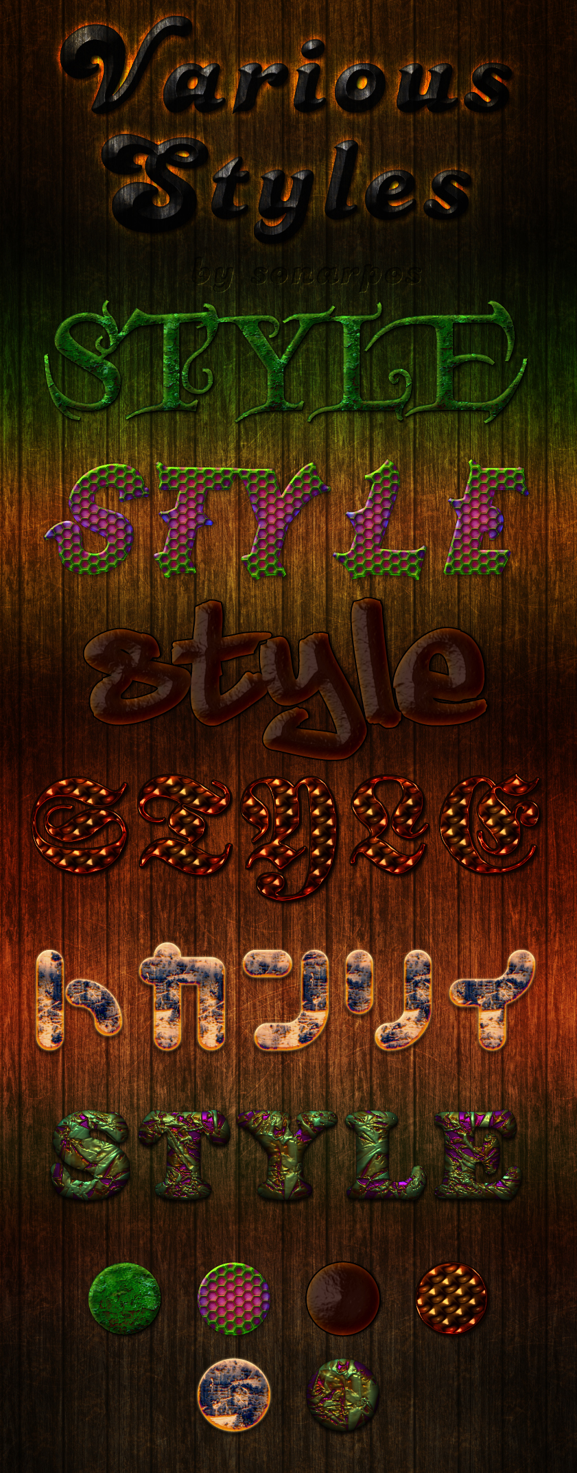 6 Fun Free Photoshop Text Effects