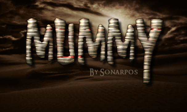 Egyptian Mummy Free Photoshop Text Effect