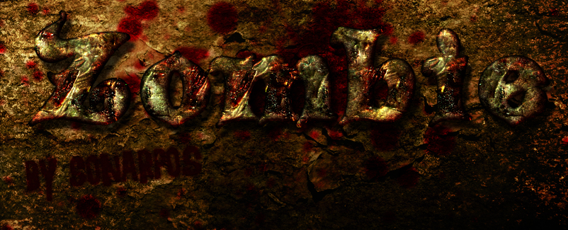 Zombie Free Horror Photoshop Text Effect