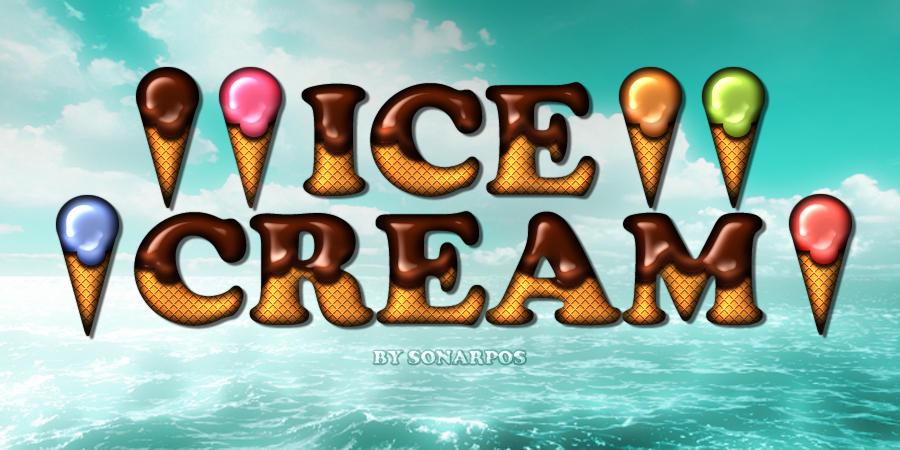 Ice cream style by sonarpos