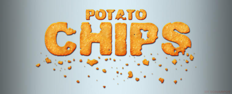 Potato chips Photoshop style
