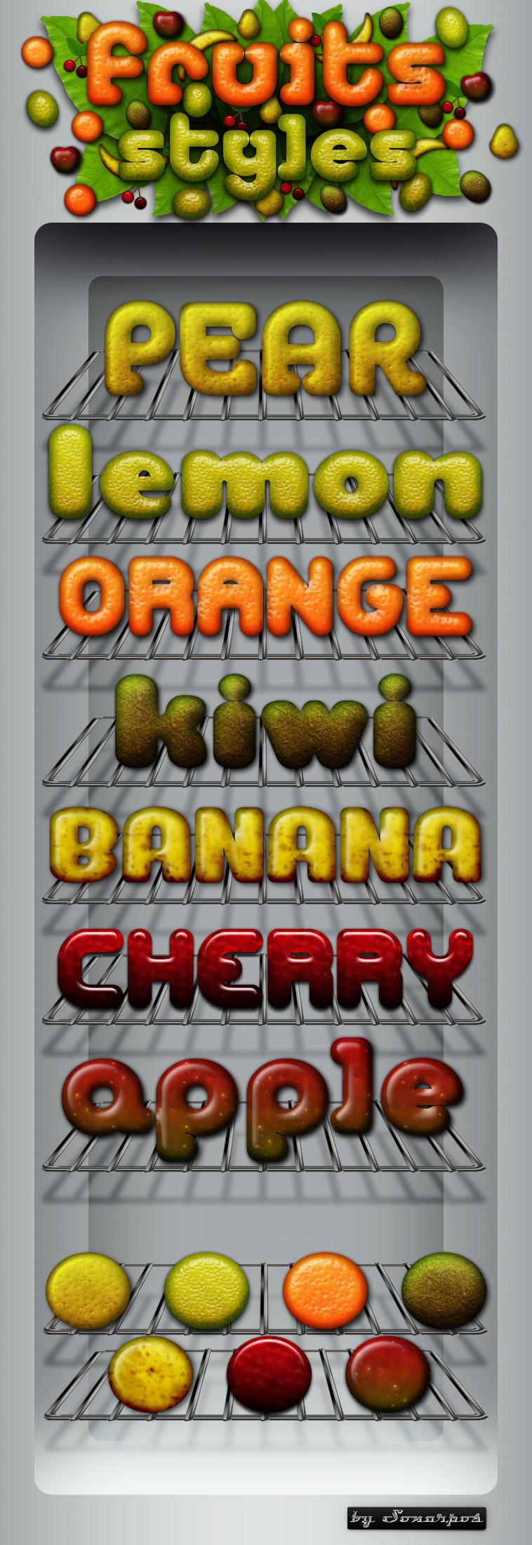 Fruits Photoshop styles