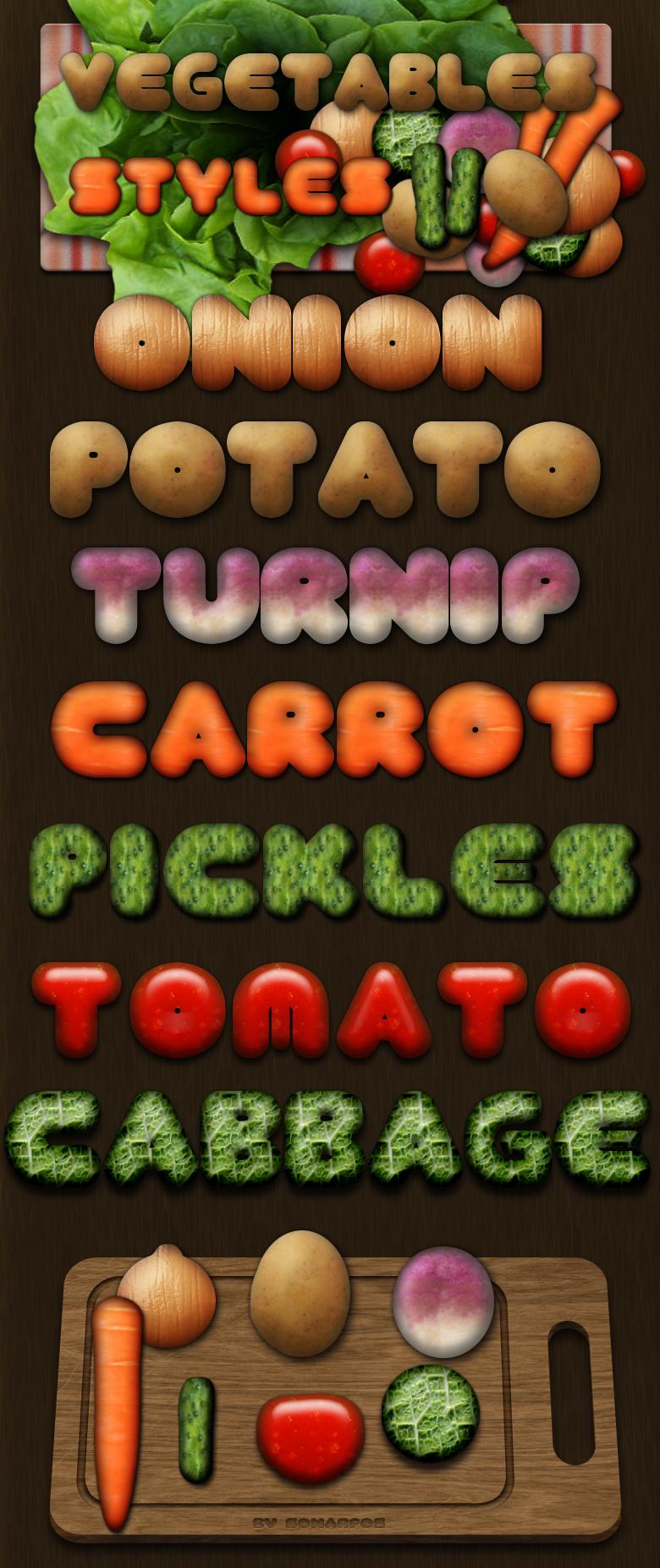 Vegetables styles