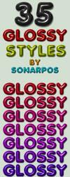 35 glossy styles by sonarpos