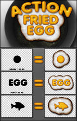 Action fried egg by sonarpos