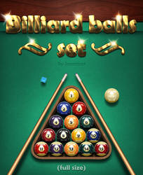 billiard balls set by sonarpos