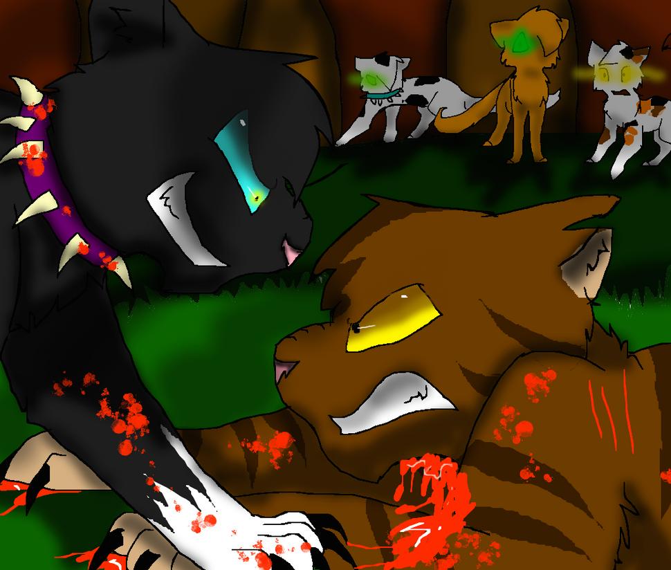 Warriors Erin Hunter Wallpaper: Scourge VS TigerStar By WeHaveCandy On DeviantArt