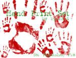Hand Print set of 16
