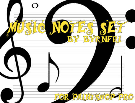 Music Notes set of 10