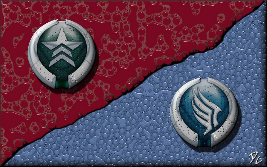 Mass Effect Paragon - Renegade by DoggyCorner