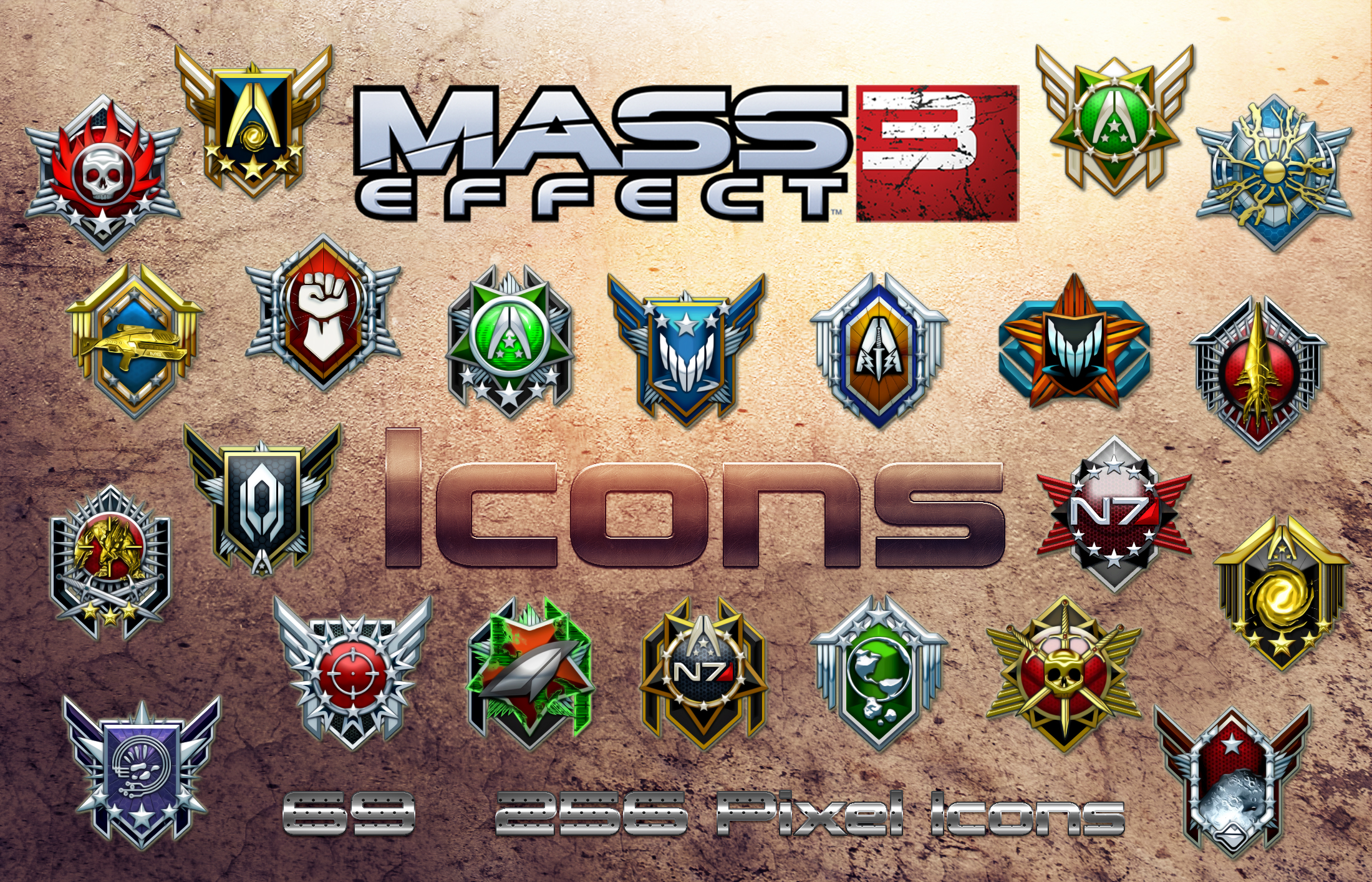 Mass Effect 3 Icons by DoggyCorner