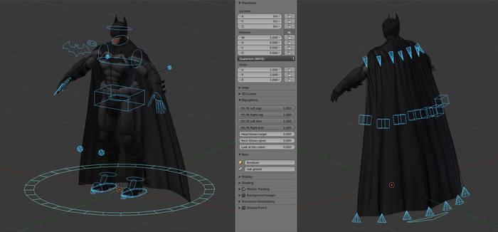 Batman Arkham Origins: IK rig for Blender