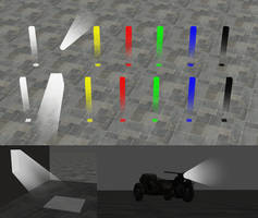 Rigged light volumes for Xnalara/XPS by dasliebesverbot