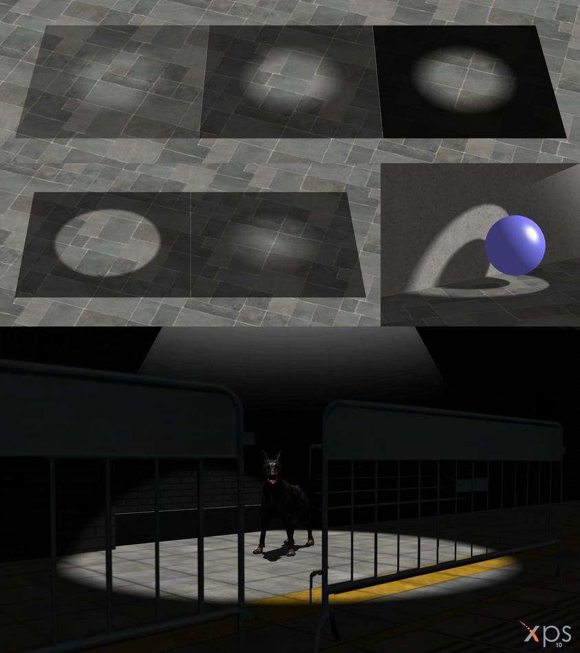 Spotlight for XNALara/XPS by dasliebesverbot