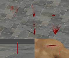 Blood effects for XNALara/XPS by dasliebesverbot