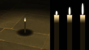 Lit Candle for XPS