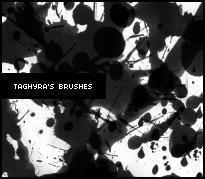 Splatter Brush Set 1 by Taghyra