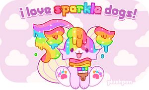 i love sparkle dogs!