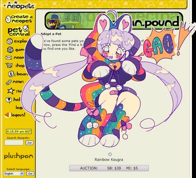 CLOSED   Neopets  Rainbow Kougra