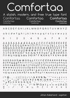 Comfortaa - font by aajohan
