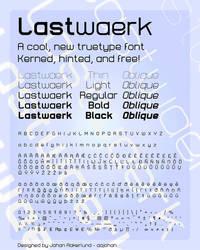 Lastwaerk - font by aajohan