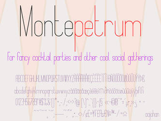 Montepetrum - Font by aajohan
