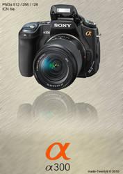 Sony Alpha a300 Icon by made-Twenty9