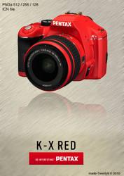 Pentax K-x Red Icon by made-Twenty9