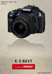 Pentax K-x Navy Icon by made-Twenty9