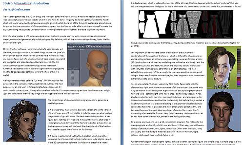 3D Art: A Fanartist's Introduction by deslea