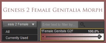 Free Daz Morph: Genesis 2 Female Gens by deslea