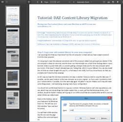 Tutorial: Daz Content Library Migration by deslea
