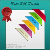 Corner Ribbons by ryanbdesigns