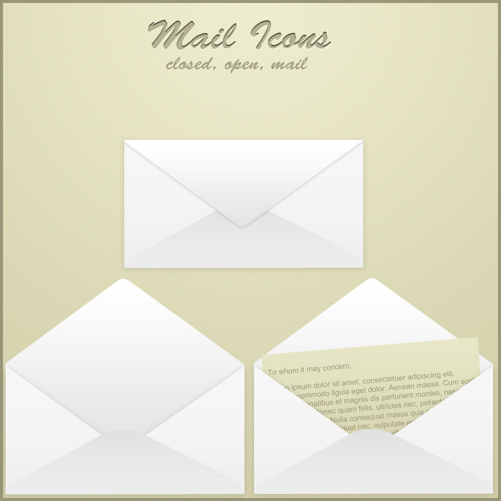 Email Icon Set by ryanbdesigns