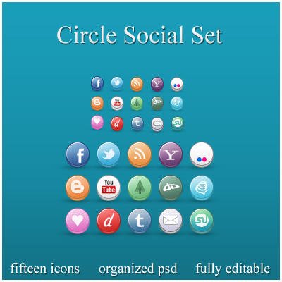 Circle Social Set by ryanbdesigns