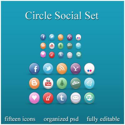 Circle Social Set by ryanbdesigns