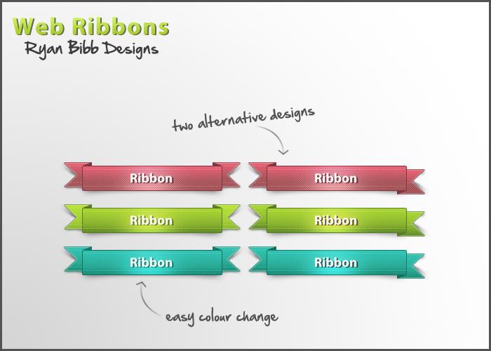 Web Ribbons by ryanbdesigns