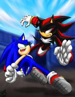 Sonic Vs Shadow 2012 (Remastered) by SonicDBZFan4125