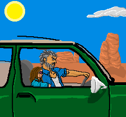 Logan and Laura on the road by RazKurdt