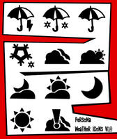 Persona 5 Weather Icons by Elysianaura