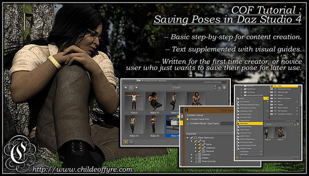 COF Tutorial : Saving Poses in DS4