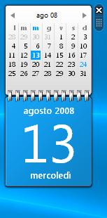 Vista Calendar Gadget by Nemed