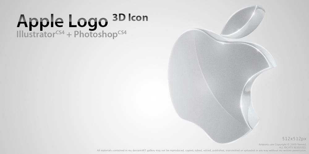 Apple Logo 3D Icon by Nemed