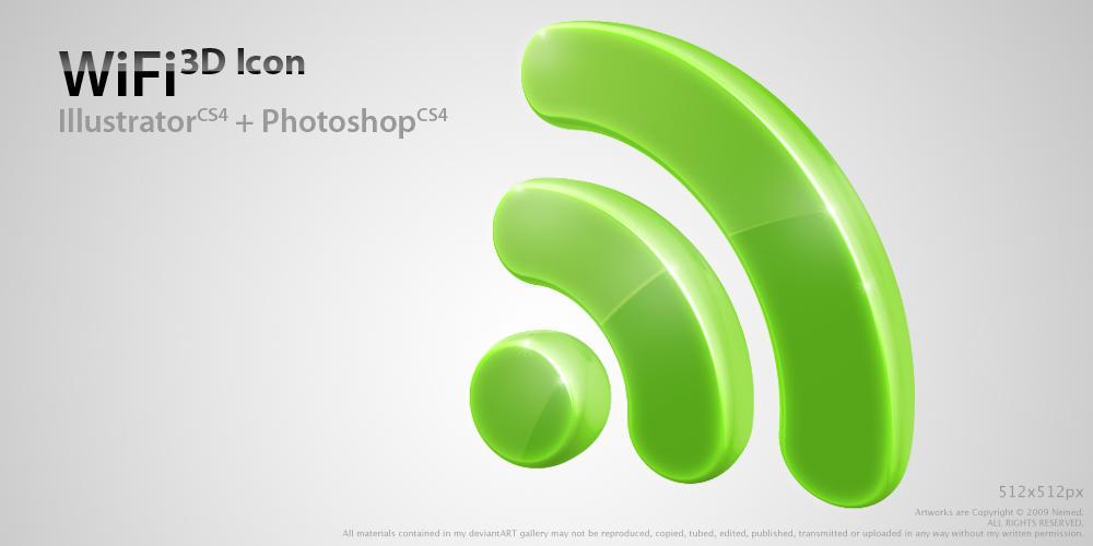 WiFi 3D Icon by Nemed