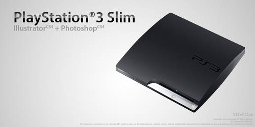 PS3 Slim Icon by Nemed