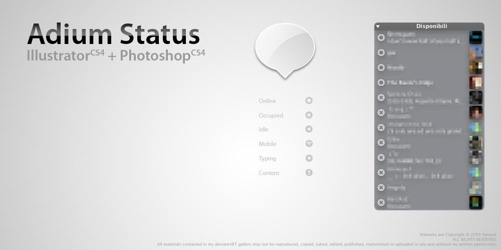 Adium Status by Nemed