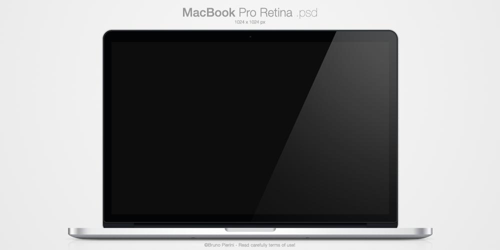 MacBook Pro Retina .psd