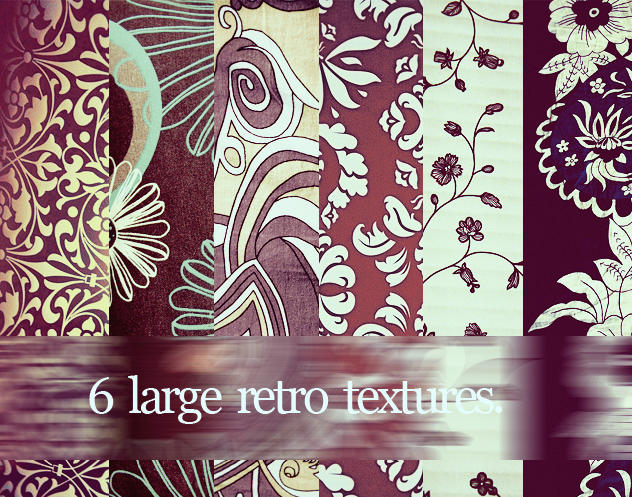6 large retro textures 01pack. by julkusiowa