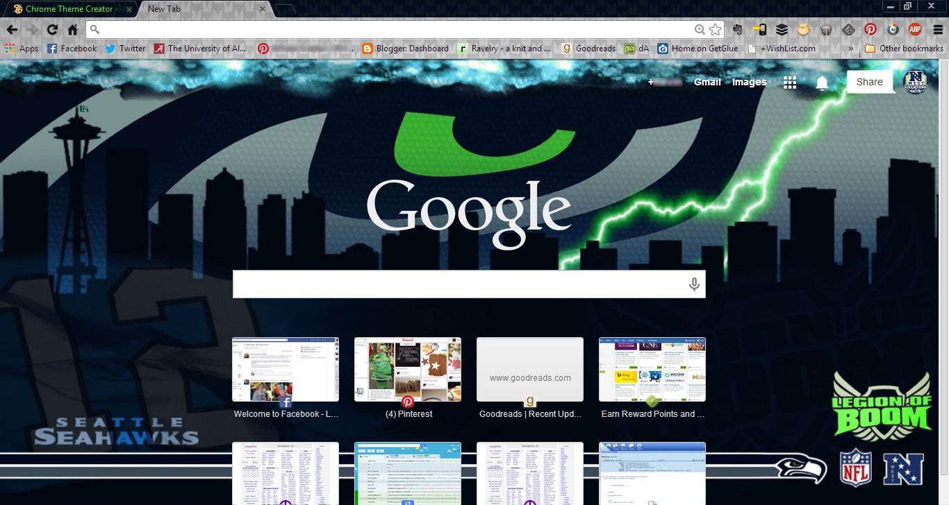 Gmail theme creator -  Seahawks 2013 Google Chrome Theme By Pyrodark