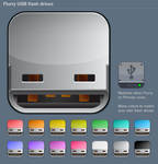 Flurry USB Flash Drive icons